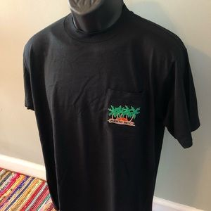80s Puerto Rico Pocket Shirt Palm Tree Logo Large